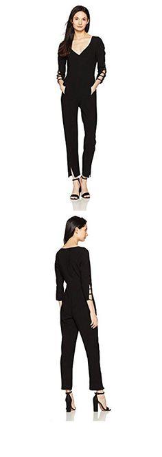 941eae93 Black Halo Women's Rizzo Jumpsuit, Black, 6. Lined bodice. 28 inch #