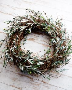 Hill Collections Olive and Twig Wreath, Olive and Twig Wreath, by Park Hill Collections at Neiman Marcus.Olive and Twig Wreath, by Park Hill Collections at Neiman Marcus. Noel Christmas, All Things Christmas, Winter Christmas, Christmas Wreaths, Christmas Crafts, Christmas Decorations, Holiday Decor, Xmas, Christmas Feeling