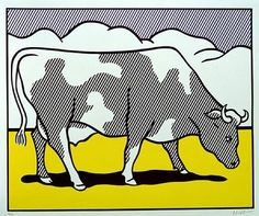 Roy Lichtenstein, Cow going abstract 1