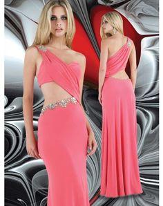 2012 Style A-line One Shoulder Beading Sleeveless Floor-length Chiffon Prom Dresses / Evening Dresses (SZ0260225)