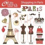 Shopping in Paris Clipart