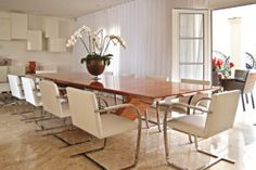 sala de jantar mesa retangular