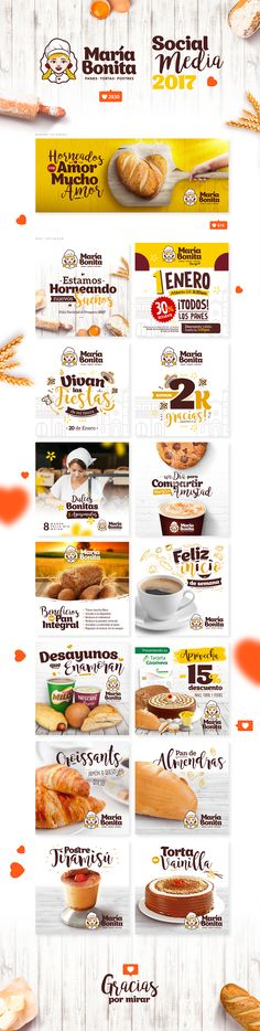 Social Media 2017 Panadería María Bonita on Behance