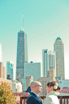 Just the beautiful Chicago skyline from Lightology's rooftop garden.
