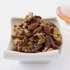 Wine Bar Nut Mix | This fantastic sweet-savory mix of pecans, almonds and walnuts from The Casual Vineyard Table, by Carolyn Wente and Kimball Jones, makes a great gift....