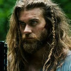 Thick, Long Hair with Single Braid # single Braids for guys 49 Badass Viking Hairstyles For Rugged Men Guide) Viking Braids, Mens Braids, Bob Braids, Straight Hairstyles, Braided Hairstyles, Viking Hairstyles, Hairstyles Men, Drawing Hairstyles, Korean Hairstyles