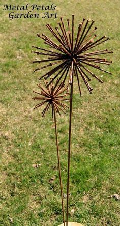 Garden Art - Rusty Nails If only I knew someone who could do this.