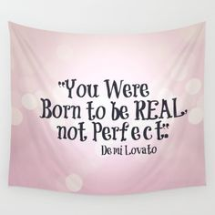 Pink Wall Tapestry Demi Lovato Quote