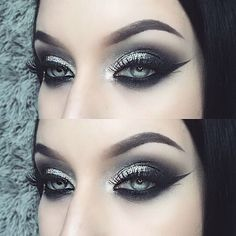 dark wedding makeup tyttiev BROWS: in Ebony EYES: quot; Gel Liner with Noir and Stone Makeup Fx, Artist Makeup, Punk Makeup, Smokey Eye Makeup, Makeup Goals, Beauty Makeup, Makeup Ideas, Makeup 2018, Grunge Makeup
