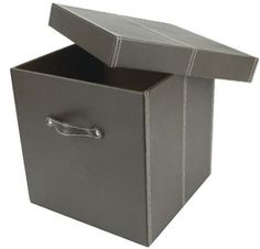Faux Leather Cube - Medium - Leather Storage Boxes | Faux Leather Cubes | Low Profile Faux Leather Box