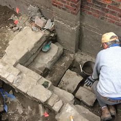 Our suspected bulkhead behind 3 Unity Court is looking more definite as a staircase slowly emerges #archaeology #boston #digNORTH
