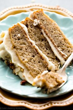 Sallys Baking Addiction Banana Cake with Brown Butter Cream Cheese Frosting - Sallys Baking Addiction