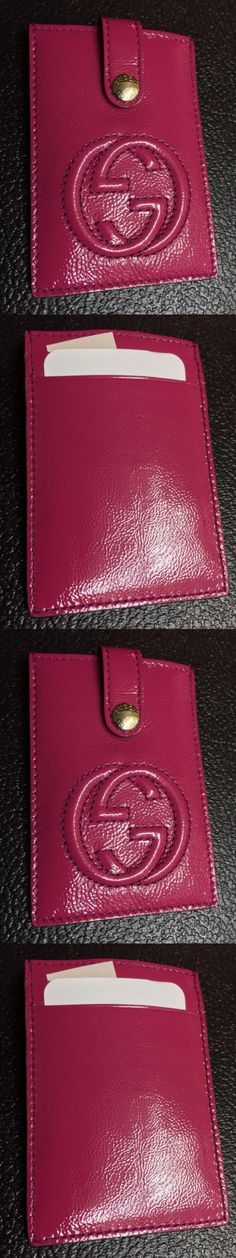 Business and Credit Card Cases 105544: Gucci Card Case Sleeve Wallet Pink Soho Patent Leather Interlocking Gg 338331 -> BUY IT NOW ONLY: $139.99 on eBay!