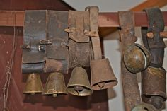 These antique cow and sheep bells are over 100 years old!