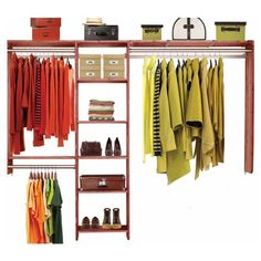 Take control of your wardrobe - use garment racks to sort and store with closet organization as the goal. Get closet storage solutions and versatile closet systems at Bed Bath & Beyond - buy now. Closet Shelves, Closet Storage, Closet Organization, Bedroom Storage, Online Shopping, Cedar Closet, Small Closets, Garment Racks, Closet System