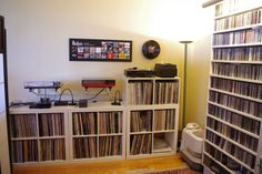 Dual Rega turntable setup... very nice! Wall mounted none the less.