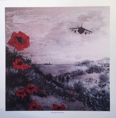 Calm Before The Storm from the War Poppy collection No.7 by Jacqueline Hurley. Professional quality print in remembrance of Our Heroes by PortOutStarboardHome on Etsy https://www.etsy.com/listing/213090197/calm-before-the-storm-from-the-war-poppy