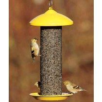 Stokes Finch Screen Mesh Wild Bird Feeder, Yellow - JacobsOutdoor