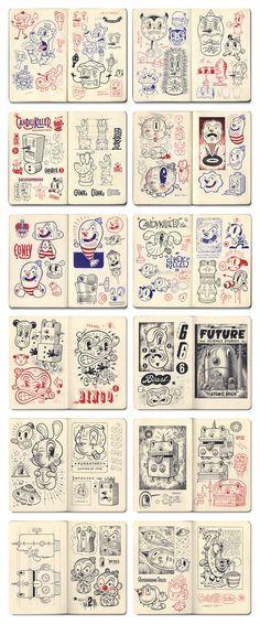 Brian Taylor (Candykiller) sketchbooks