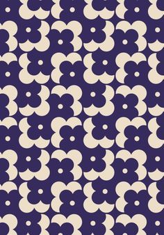 ORLA KIELY - FLOWER SHADOW DOT - NAVY Wallpapers Texture, Graphic Patterns, Textile Patterns, Textile Design, Tessellation Patterns, Retro Pattern, Pattern Art, Pretty Patterns, Beautiful Patterns