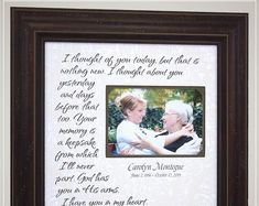 Celebrating the Special Moments in Your LIfe by PhotoFrameOriginals Personalized In Memory Of Memorial Frame Remembrance. Thank You Gift For Parents, Wedding Gifts For Parents, Wedding Thank You Gifts, Wedding Picture Frames, Wedding Frames, Wedding Trends, Wedding Venues, Wedding Ideas, Remembrance Gifts