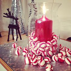 Crazy cute and easy Christmas centerpiece
