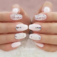 Glitter Accents For Graduation Nails