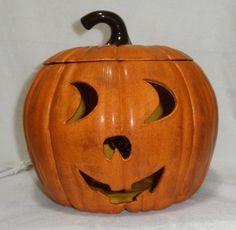 Ceramic Pumpkin w/ light (Handmade)