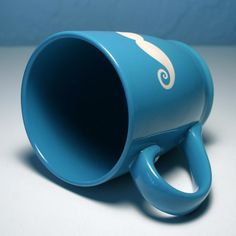 Look at this sky blue Mustache Mug from Bread and Badger