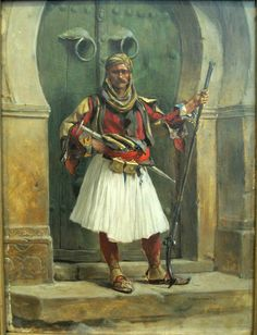 Paja Jovanović ( Vršac 1859 – Vienna a Serbian painter Illustrations, Illustration Art, Albanian Culture, Landsknecht, Military Art, Military Uniforms, Egyptian Art, Art History, Portrait
