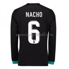 Billige Fotballdrakter Real Madrid 2017-18 Nacho 6 Bortedrakt Langermet