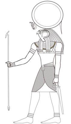 Egyptian God Ra Coloring page