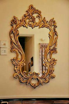 Classic Bedroom Furniture, Rustic Log Furniture, Baroque Mirror, Venetian Mirrors, Mirror Panels, Wall Mirror, Luxury Furniture Stores, Diamond Wallpaper, Wood Carving Designs