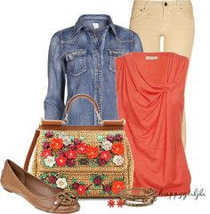 """""""Denim Shirt~Casual"""" by happygirljlc on Polyvore"""