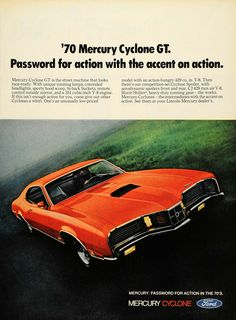 1969 Ad '70 Mercury Cyclone GT CJ 429 V8 Muscle Car - ORIGINAL ADVERTISING TM3 - Period Paper