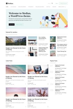 People are looking for a WordPress theme like Medium. Understandably, Medium's design is a great example for clean and timeless web aesthetics, so beautifully Blog Website Design, Wordpress Website Design, Wordpress Theme Design, Blog Designs, Wordpress Free, Website Ideas, Web Design Websites, News Web Design, Grid Web Design