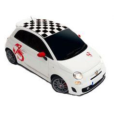 Fiat Abarth sticker set - Stickythings.nl #fiat #autosticker #sticker #daksticker