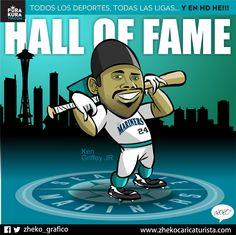 """#ElCartonDelDia para @PurakuraWeb""""KEN GRIFFEY JR SALÓN DE LA FAMA"""" @KidGriffeyJr #KenGriffeyJr #HallOfFame #MLB"""