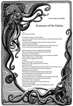 "For Doctor Who & poetry fans! Page 1  - Trevor Byrne-Smith | ""Romance of the Daleks"" 