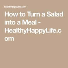 How to Turn a Salad into a Meal - HealthyHappyLife.com Cashew Cheese, Vegan Cheese, Romaine Salad, Vegan Ranch, Stuffed Mushrooms, Stuffed Peppers, Easy Salads, Honey Mustard, Eat Right