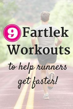 Fartlek workouts are a more unstructured form of interval training. Find 9 examples of fartlek training sessions that you can include to boost your speed! running for beginners running tips interval training for runners half marathon training Speed Training, Running Training, Running Tips, Race Training, Training Equipment, Running Humor, Triathlon Training, Running Plans, Running Drills
