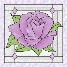 American Beauty Rose 3 Stained Glass Celtic Quilt Pattern by Celtic Crossworks at Creative Quilt Kits Stained Glass Quilt, Stained Glass Flowers, Faux Stained Glass, Stained Glass Panels, Leaded Glass, Mosaic Glass, Beveled Glass, Stained Glass Patterns Free, Stained Glass Designs