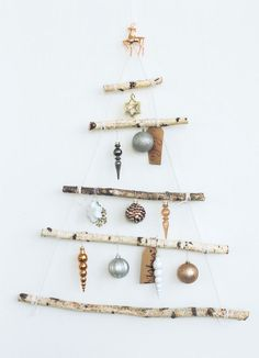 Make this easy DIY branch Christmas Tree | Apartment34 | Decor