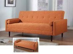Sleeper Sofa Small Es With Nice Orange Theme Http Lovelybuilding