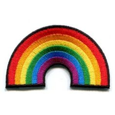 Gay pride lesbian rainbow love LGBT sewing Iron on Patches Embroidered... (£1.00) ❤ liked on Polyvore featuring home, home improvement and cleaning
