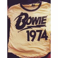 David Bowie 1974 t shirt Vintage looking! Very soft and in great condition only worn a couple times! RIP to the legend  Vintage Tops