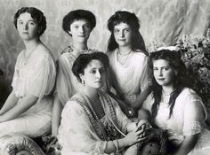There are some theories which suggest Anastasia Romanov, far right, survived Bolshevik revolution