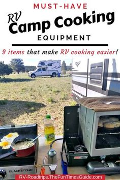 Wondering what's the best camping cookware? Here's the Ultimate List Of Camping Cookware Equipment For Full-Time RV Cooking... according to someone who's been RVing for over 50 years! rv cooking | camping gear | camping | camping cookware | fulltime rv living Rv Camping, Camping Hacks, Outdoor Camping, Camping Kitchen, Rv Hacks, Camping Stuff, Camping Ideas, Life Hacks, Rv Travel