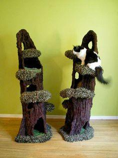 Los árboles del gato de Pete Plumley son obras de arte funcional - Catster