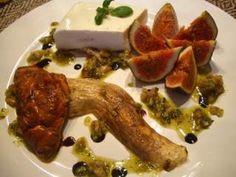 Mousse de ricota com presunto cru, figos e cogumelos porcini, Receita Petitchef